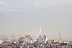 Panoramiczny widok Walencja, Hiszpania obrazy royalty free