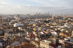 Panoramiczny widok Walencja, Hiszpania Zdjęcia Stock