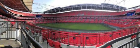 Panoramiczny widok wembley stadium zdjęcia royalty free
