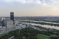 Panoramiczny widok Wiedeń obrazy stock