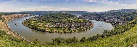 Panoramiczny widok wielka Rhine pętla obrazy royalty free