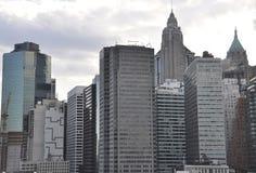 Panoramiczny widok Wschodni Manhattan od Miasto Nowy Jork w Stany Zjednoczone zdjęcie stock