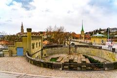 Panoramiczny widok wspaniały stary miasteczko Bern Zdjęcia Stock