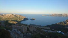 Panoramiczny widok wybrzeże obraz royalty free