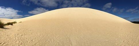 Panoramiczny widok wysoka piaska wzgórza grań Panorama Mały Sahara Zdjęcia Royalty Free