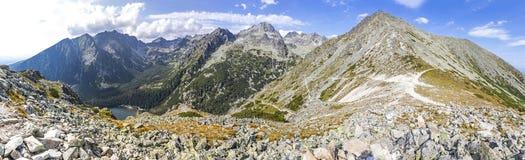 Panoramiczny widok Wysokie Tatras góry, Sistani Fotografia Stock