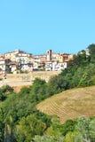 Panoramiczny widok wzgórze kraj Zdjęcie Stock