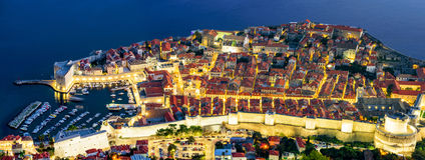 Panoramiczny widok z lotu ptaka Dubrovnik stary miasteczko fotografia royalty free