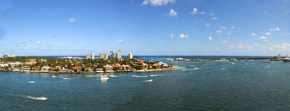 Panoramiczny widok z lotu ptaka fort lauderdale fotografia royalty free