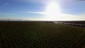 Panoramiczny widok z lotu ptaka krajobraz wieś zbiory wideo