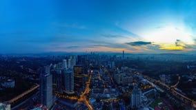 Panoramiczny widok z lotu ptaka Kuala Lumpur obrazy stock