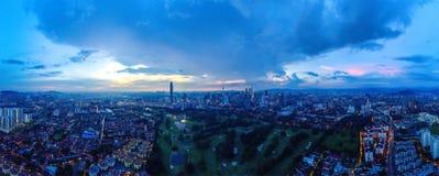 Panoramiczny widok z lotu ptaka Kuala Lumpur obraz stock