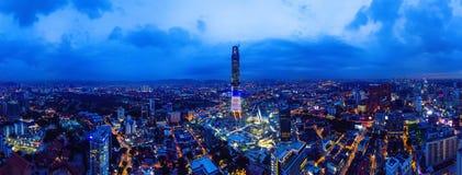 Panoramiczny widok z lotu ptaka Nowy nowożytny budynek obraz stock