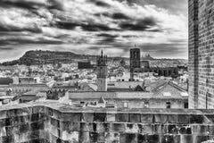 Panoramiczny widok z wierzchu Barcelona katedry, Catalonia, S Fotografia Royalty Free