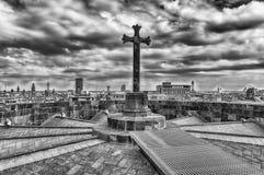 Panoramiczny widok z wierzchu Barcelona katedry, Catalonia, S Zdjęcie Royalty Free