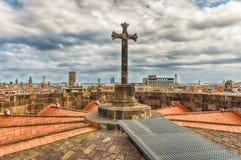 Panoramiczny widok z wierzchu Barcelona katedry, Catalonia, S Zdjęcia Stock