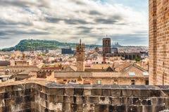 Panoramiczny widok z wierzchu Barcelona katedry, Catalonia, S Obraz Royalty Free