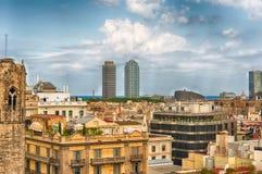 Panoramiczny widok z wierzchu Barcelona katedry, Catalonia, S Obrazy Royalty Free