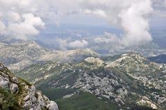 Panoramiczny widok z wierzchu Lovcen góry Fotografia Royalty Free