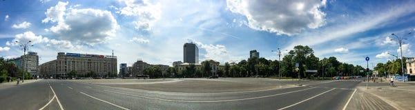 Panoramiczny widok zwycięstwo kwadrat W Bucharest Zdjęcia Stock