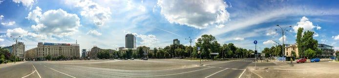 Panoramiczny widok zwycięstwo kwadrat W Bucharest Zdjęcie Royalty Free