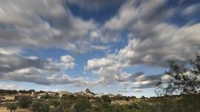 Panoramiczny zmierzchu miasteczko Zdjęcia Stock