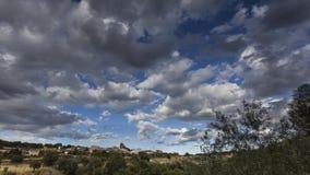 Panoramiczny zmierzchu miasteczko zdjęcie royalty free