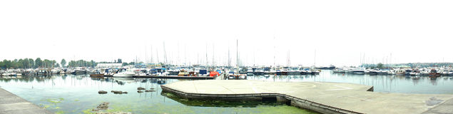 A panoramic yatch marina. From istanbul Royalty Free Stock Image