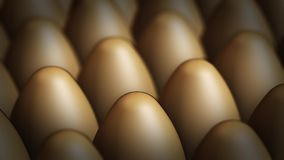 Panoraming video of brown eggs stock video footage
