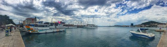 Panoramio Kroatiens Adria Lizenzfreie Stockbilder