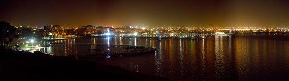 Panoramique de Geelong la nuit Image libre de droits