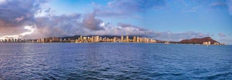 Panoramique de Honolulu photographie stock libre de droits