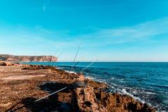 Panoramique de la côte maritime images libres de droits