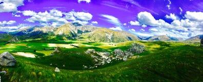 Panoramique de la colline de château Images stock