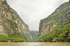 Panoramique de la gorge de Sumidero Photo libre de droits