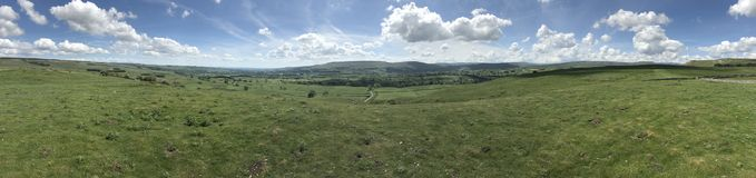Panoramique de Wensleydale Yorkshire Photos stock
