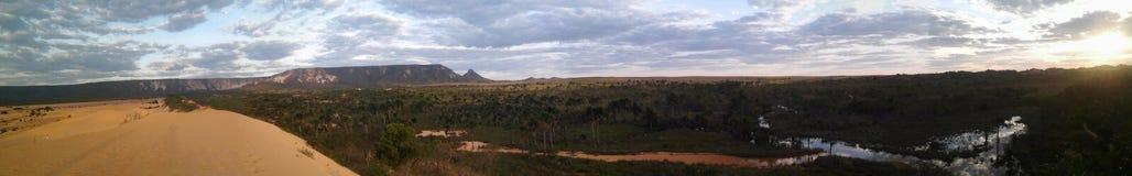 Panoramique des dunes de Jalapao, Jalapao, Tocantins, Brésil Photos libres de droits