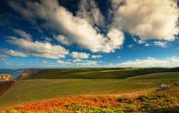 Panoramique des falaises Images libres de droits