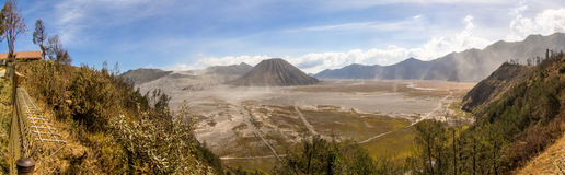 Panoramique du parc national de Bromo Tengger Photo libre de droits