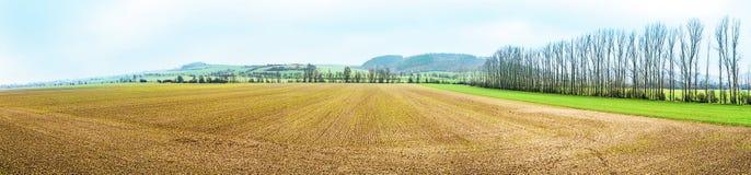 Panoramique landscape at Kyffhaeuser area in Thuringia Stock Images
