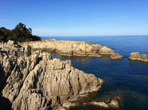 Panoramique strand Montaigne Arkivfoton