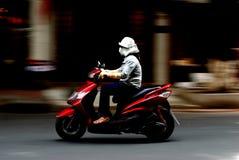Panoramique tiré de la moto Photos stock
