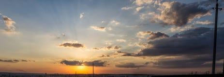 Panoramisch avondlandschap Royalty-vrije Stock Afbeelding