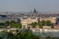 Panoramisch beeld van Boedapest royalty-vrije stock foto