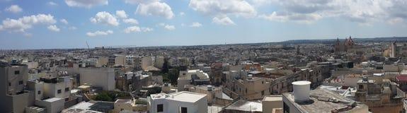 Panoramisch beeld van Malta stock fotografie