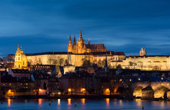 Panoramisch beeld van Praag, hoofdstad van Tsjechische Republi stock afbeeldingen