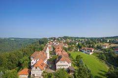 Panoramisch bekijk het dorp Zavelstein royalty-vrije stock afbeelding