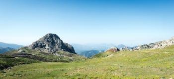Panoramisch berglandschap Stock Foto