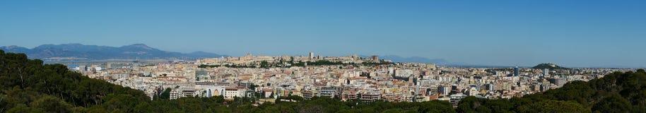 Panoramisch in Cagliari stock afbeelding