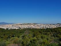 Panoramisch in Cagliari Cagliari stock afbeelding